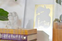 DIY Luxe Gold Leaf Wall Art   Brit + Co