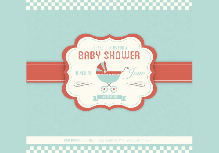 Baby Shower PSD Invitation Template - Free Photoshop Brushes at - baby shower invite template free