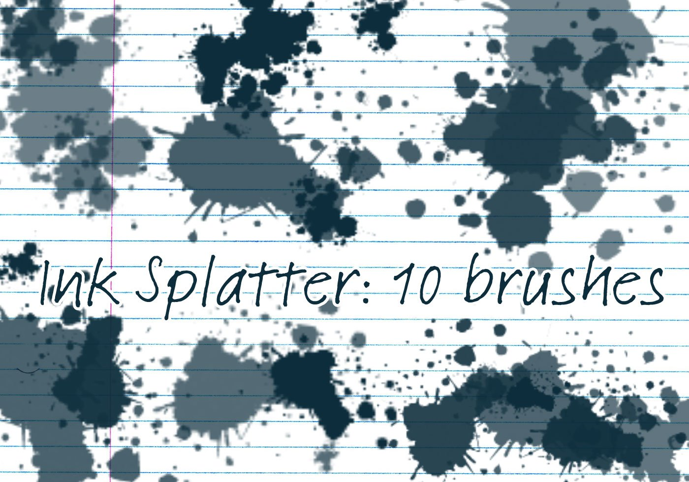 photoshop paint splatter brushes