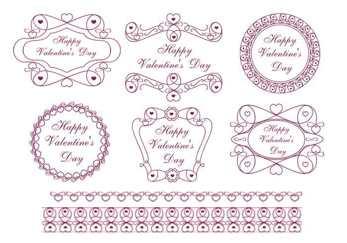 Happy Valentine\u0027s Day Label Brush Pack - Free Photoshop Brushes at