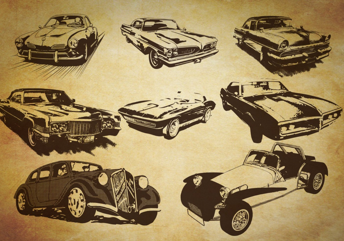Look Retro Free Retro Style Car Brushes