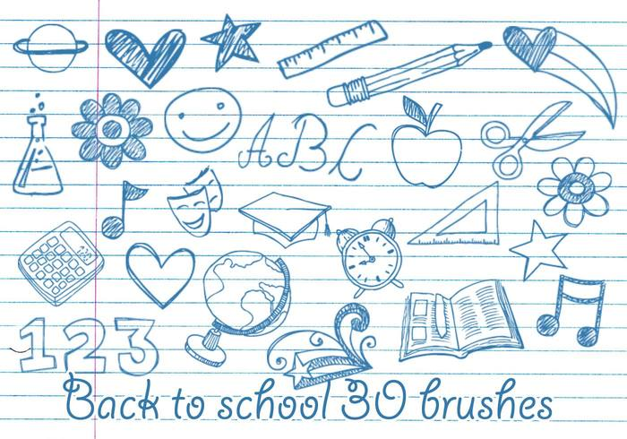 Wallpaper Cute Girl Download School Doodles Brushes Free Photoshop Brushes At Brusheezy