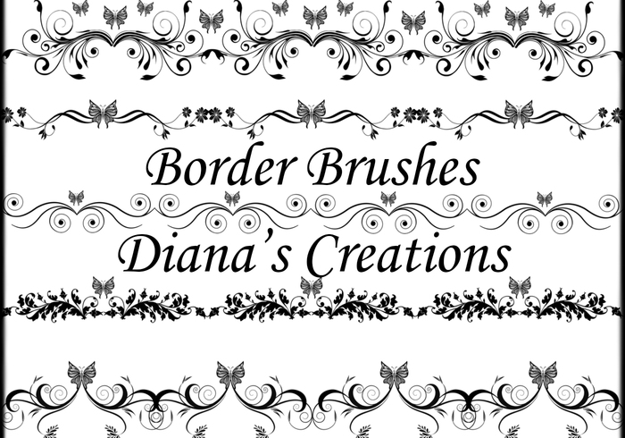 Elegant Border Brushes - Free Photoshop Brushes at Brusheezy!