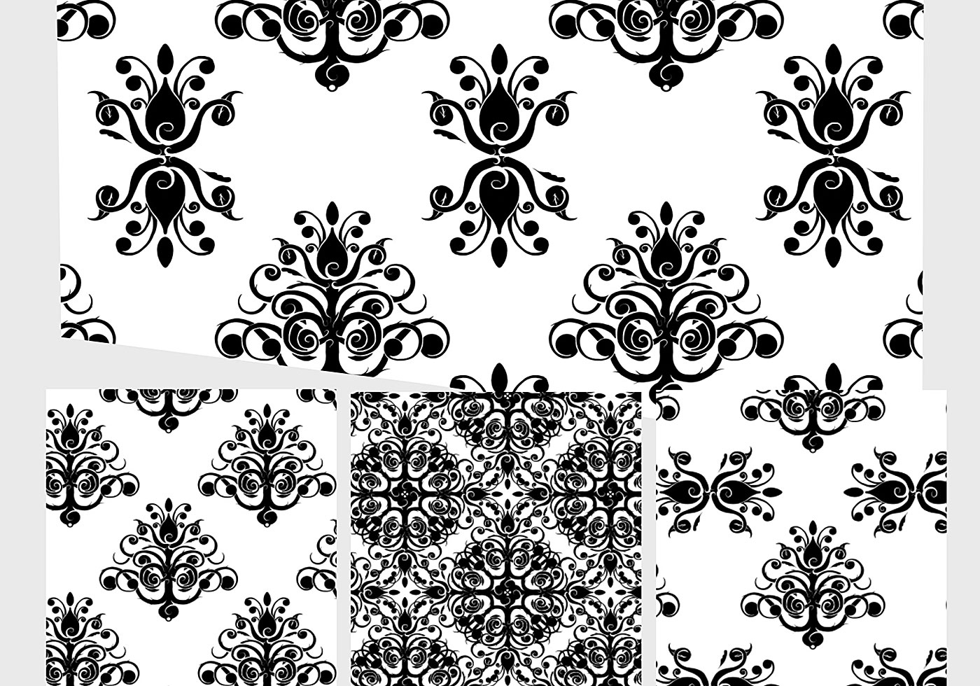 Wallpaper Black And White Damask Baroque Patterns 5 Free Photoshop Patterns At Brusheezy