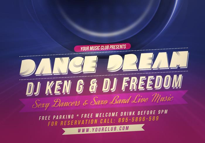 Dance Party Flyer PSD Template - Free Photoshop Brushes at Brusheezy!