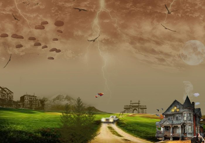 Cloudy Weather Spooky Background Free Photoshop Backgrounds at