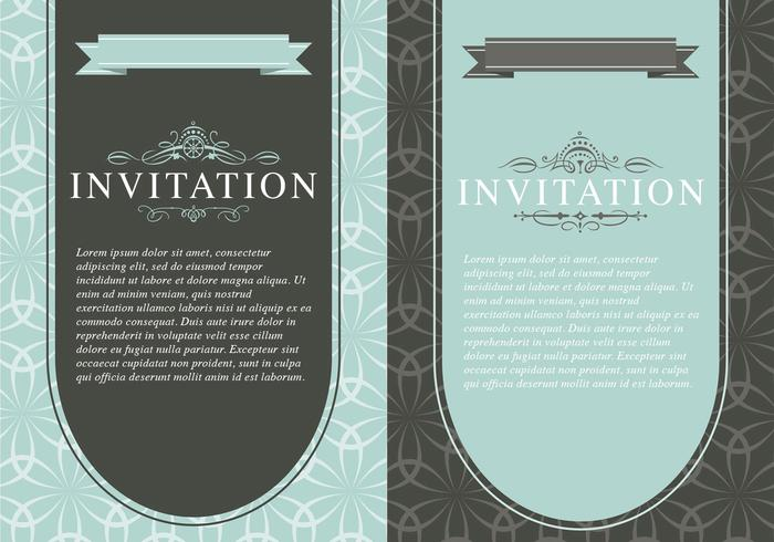 Vintage Invitation Template Pack - Free Photoshop Brushes at Brusheezy!