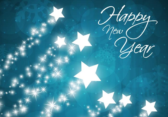 Star Filled Happy New Year Background - Free Photoshop Brushes at