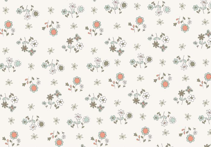 Cute Pattern Background Wallpaper Hand Drawn Flower Pattern Free Photoshop Brushes At