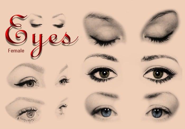 20 Female Eyes Ps Brushes abr - Free Photoshop Brushes at Brusheezy!