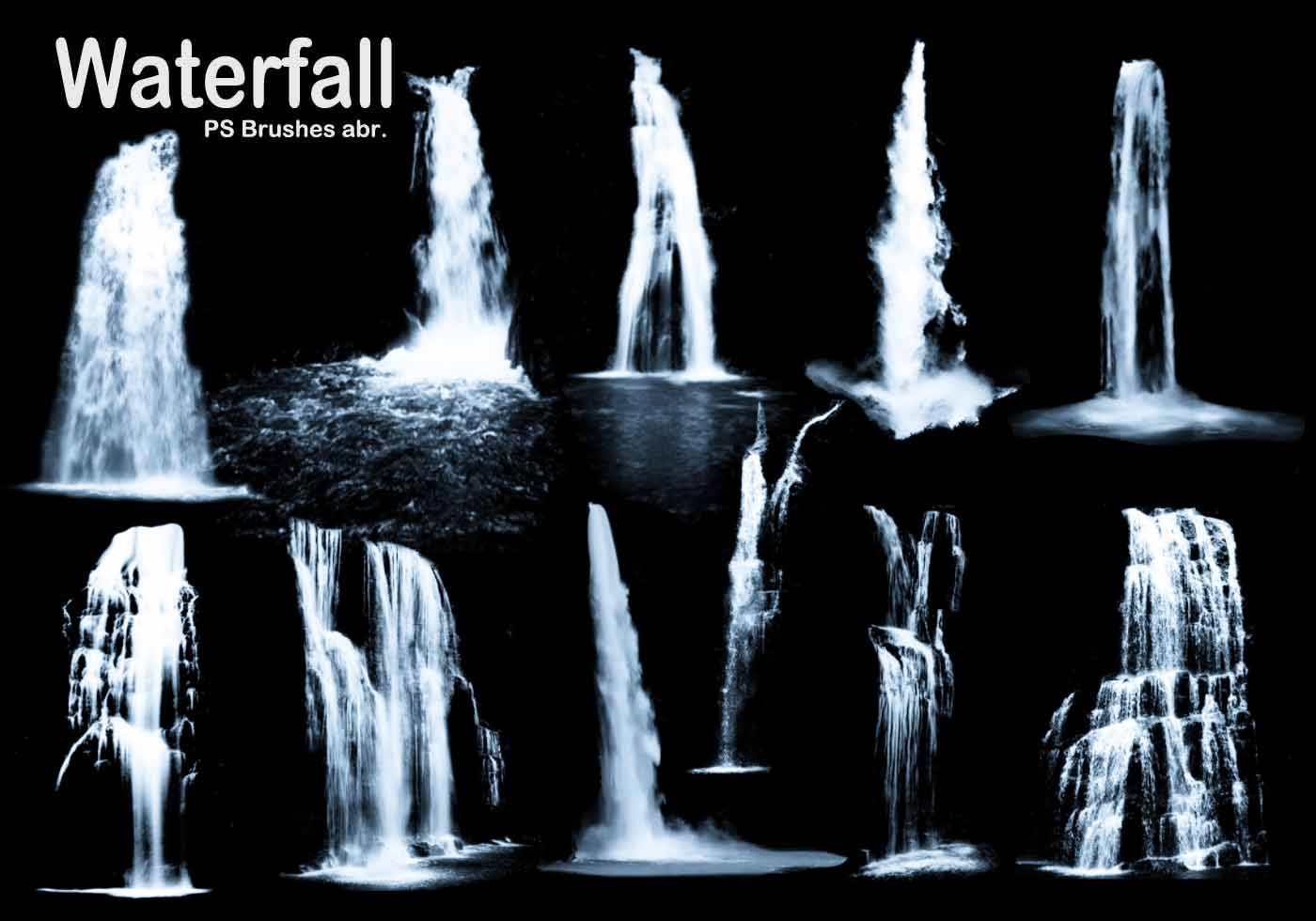 3d Fountain Wallpaper 20 Waterfall Ps Brushes Abr Vol 3 Free Photoshop