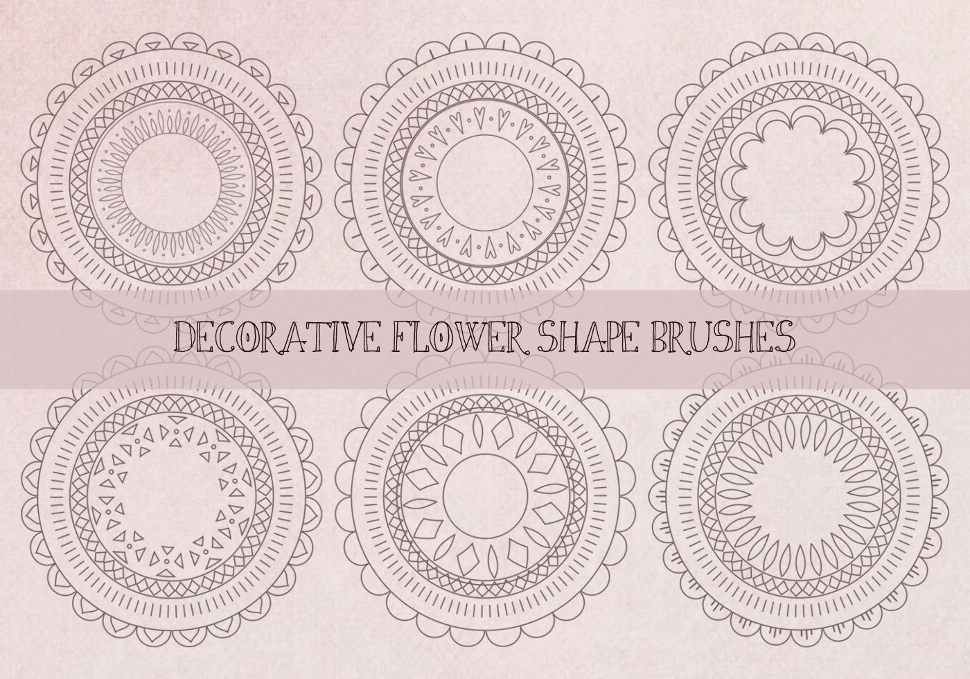 Cute Mandala Wallpaper Decorative Abstract Flower Shape Brushes Free Photoshop
