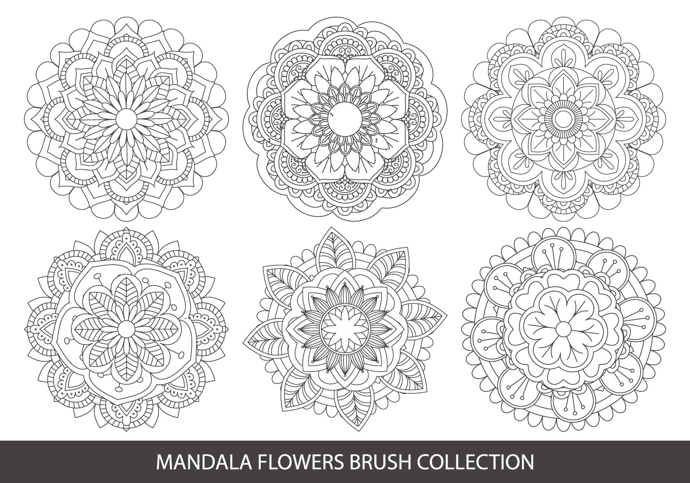 Cute Pattern Background Wallpaper Mandala Flower Brush Collection Free Photoshop Brushes