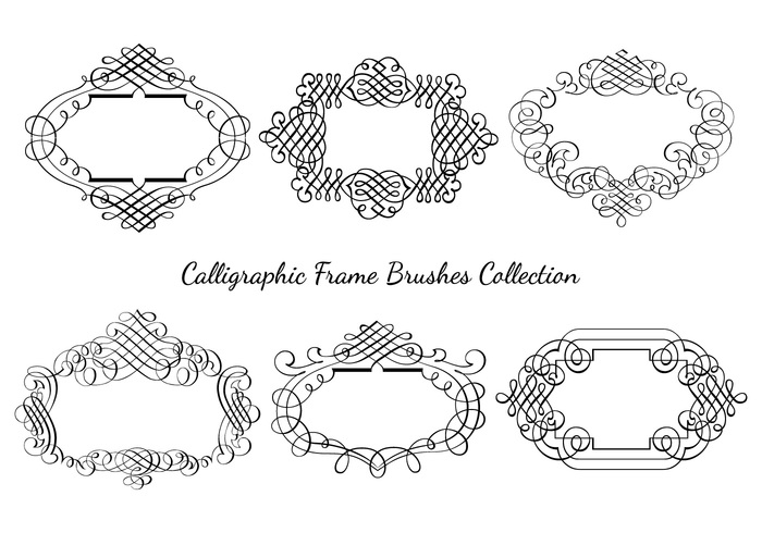 Calligraphic Frame Brushes Collection - Free Photoshop Brushes at