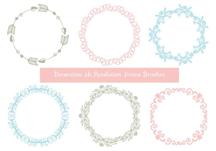 Cute Hand Drawn Style Frame Brushes - Free Photoshop Brushes at