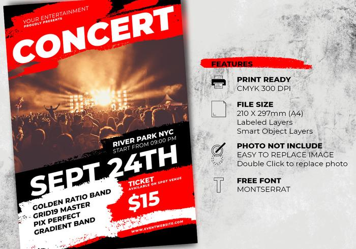 Music Concert Flyer Template - Free Photoshop Brushes at Brusheezy!