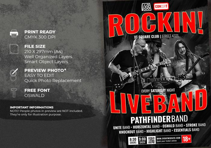 Live Band Flyer Template - Free Photoshop Brushes at Brusheezy!