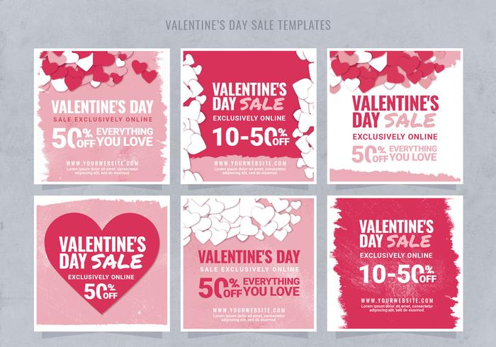 Instagram Valentine\u0027s Day Sale Template - Free Photoshop Brushes at