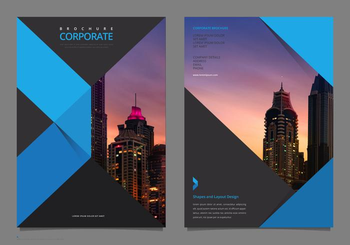 Professional Elegant Corporate Flyer Template Mock Up - Free