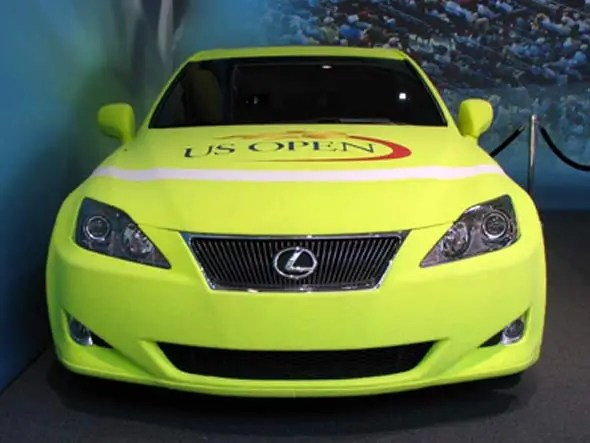 Lexus Covers A Car In Tennis Ball Fuzz For The US Open Business - why is there fuzz on a tennis ball
