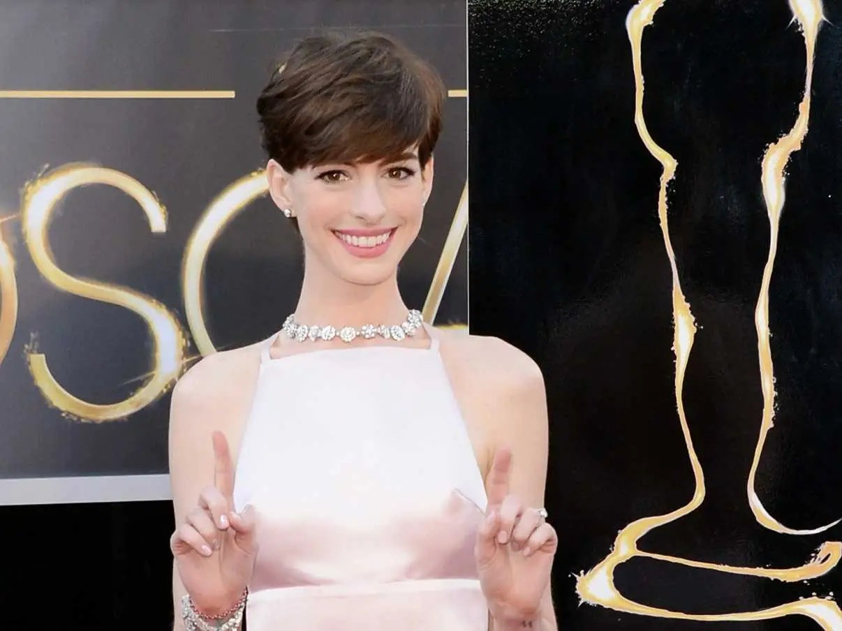 Why Anne Hathaway Was Wearing A Dress That Made It Look