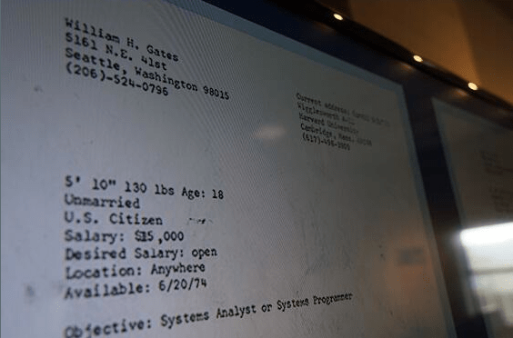 This Is Bill Gates\u0027 Resume From 1974 - Business Insider