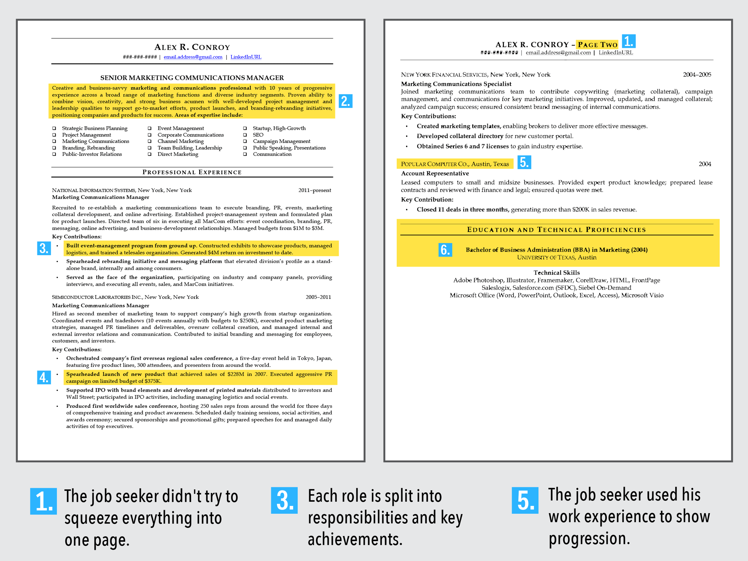 second page of resume example