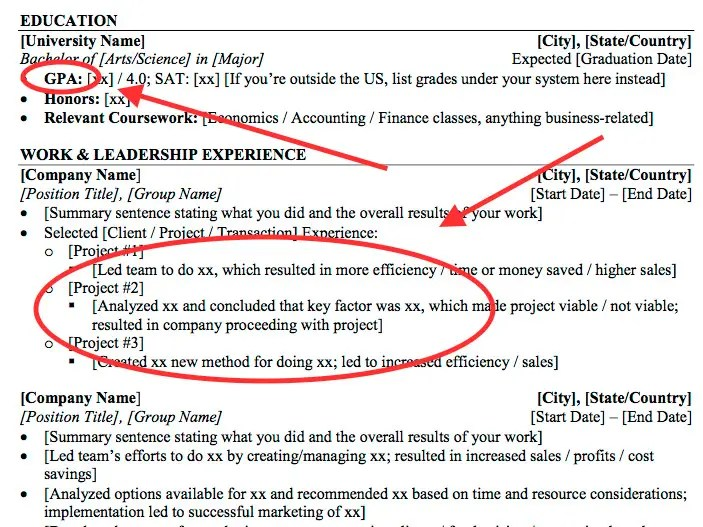 Résumé tips for Wall Street internships - Business Insider - gpa on resume