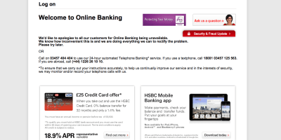 HSBC S Online Banking Facility Has Gone Down For The Second Time In