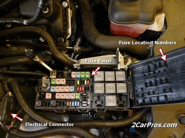 2010 dodge caliber fuse box location