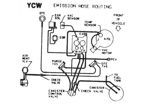 el camino 350 engine diagram