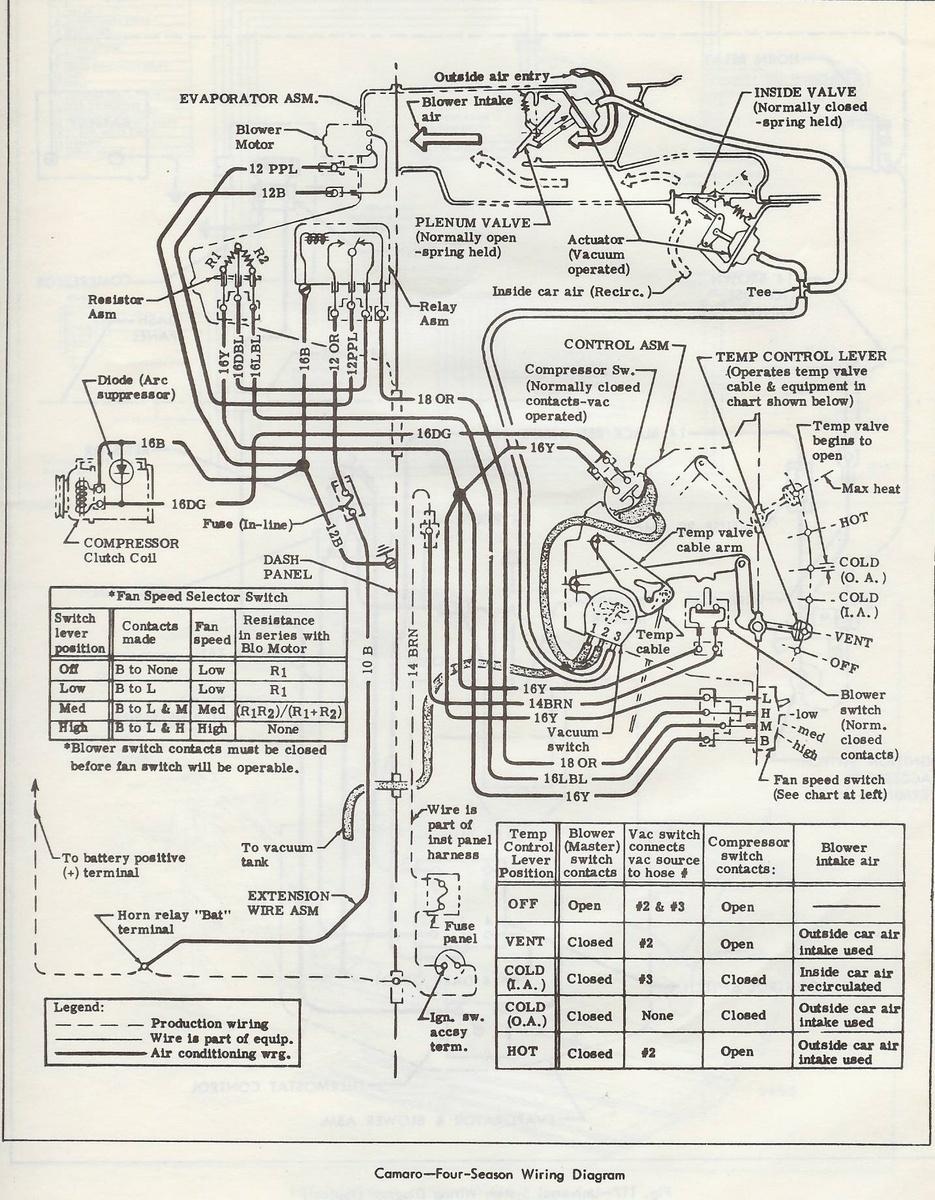 1967 camaro air conditioning diagram   36 wiring diagram