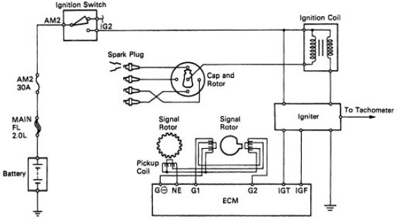 92 toyota camry spark plug wire diagram