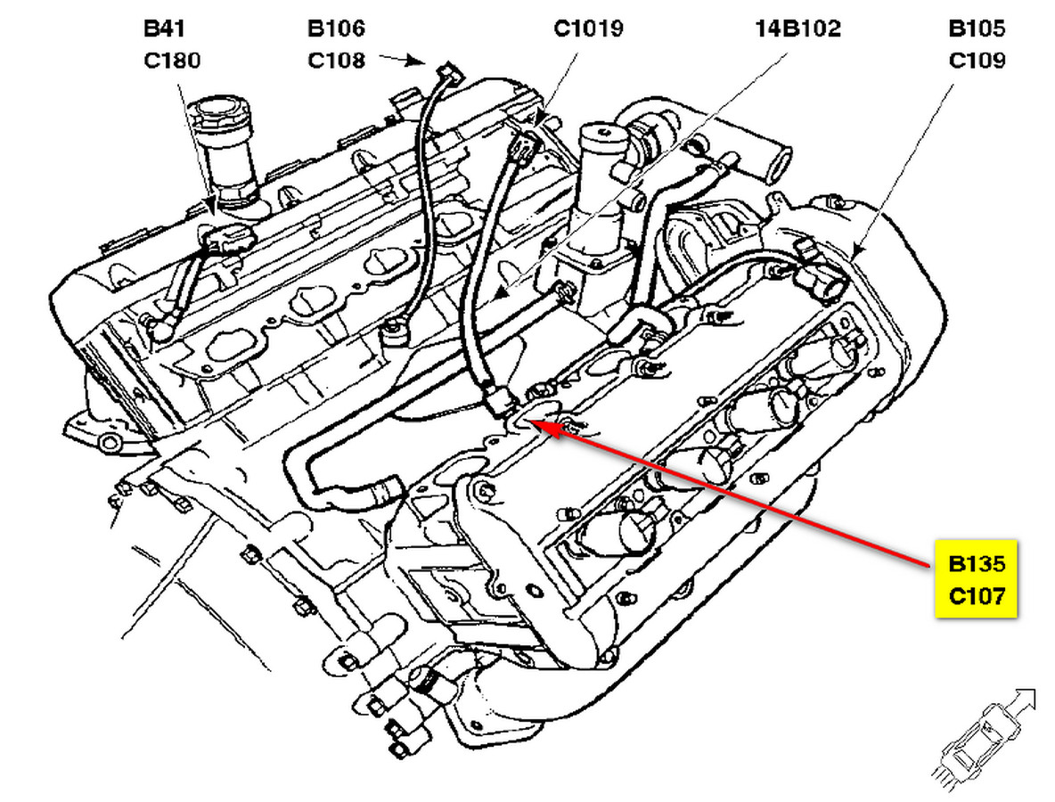 2002 lincoln ls v8 engine diagram