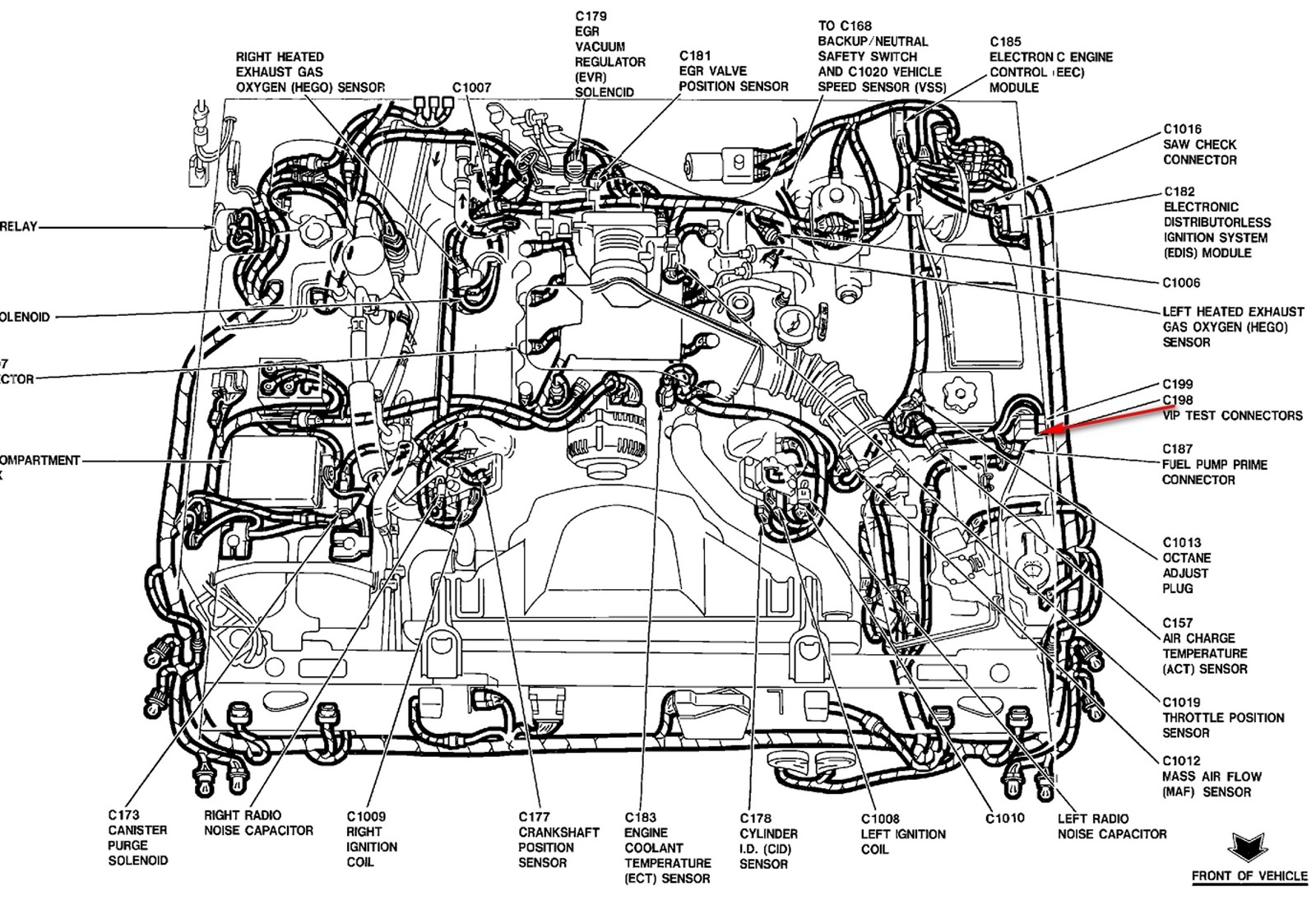 1989 mercury grand marquis engine diagram