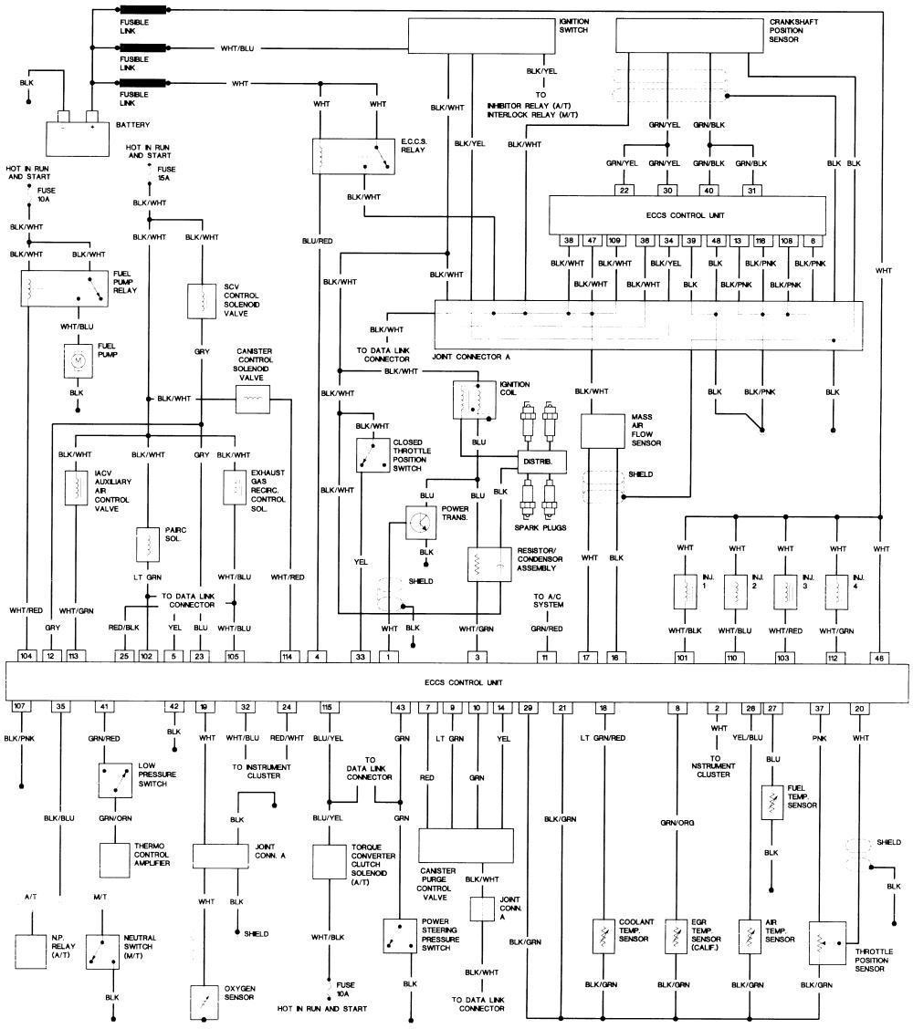 1991 nissan pickup wiring diagram ford 4a5vb
