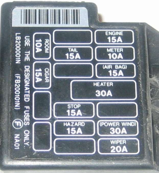 94 Mazda Miata Fuse Box Wiring Diagram