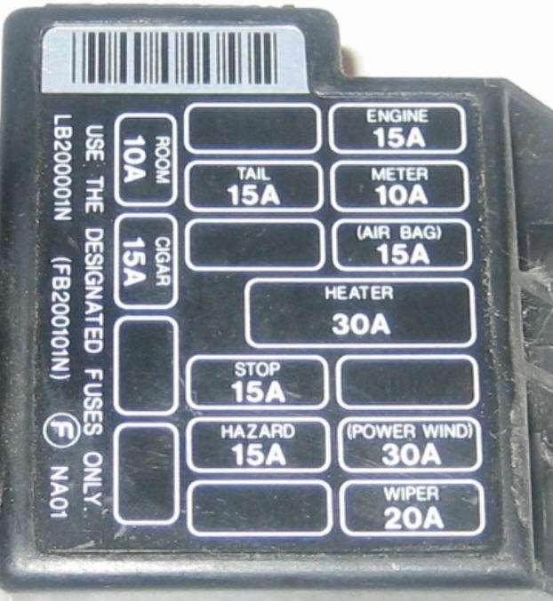 1992 mazda miata fuse box diagram