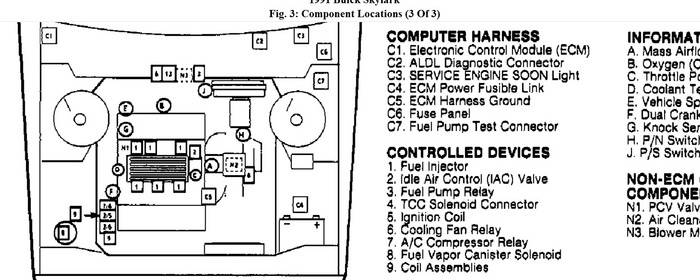 Location Of Starter Relay On 95 Skylark Wiring Diagram