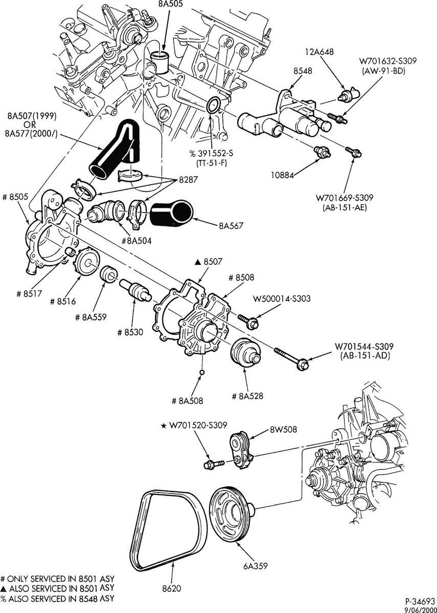 mercury engine cooling diagram