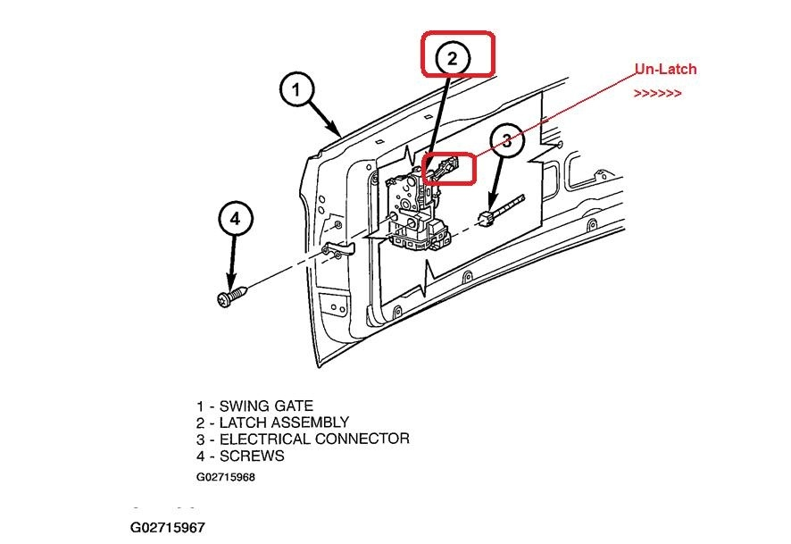 jeep rear door diagram