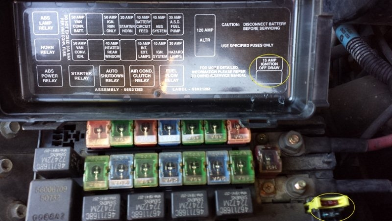 Dodge Ram Van Fuse Box Wiring Diagram