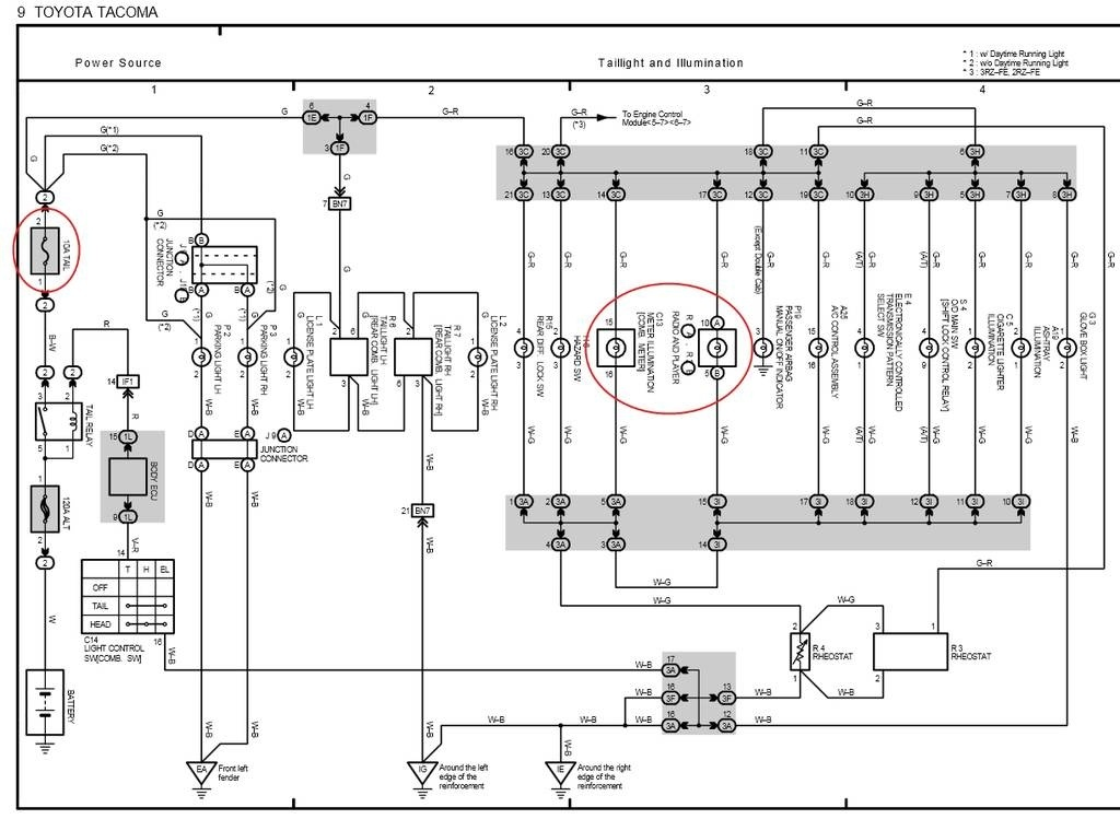 2004 toyota tacoma truck electrical wiring diagram ewd