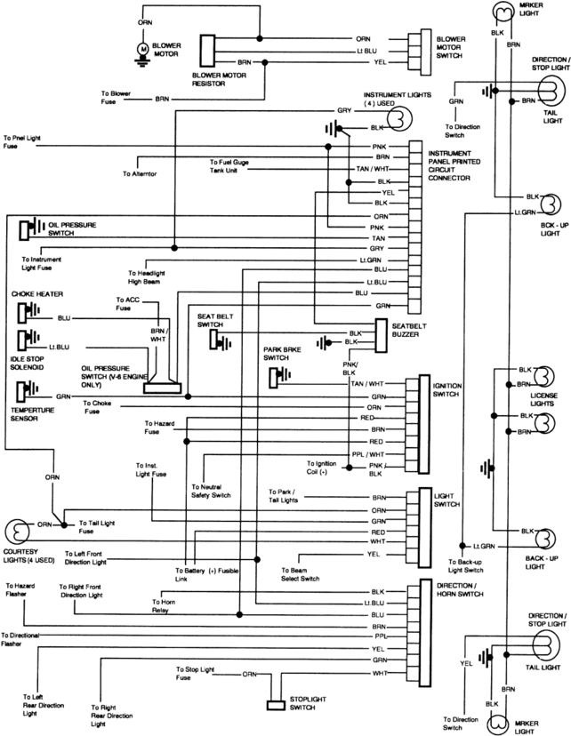 1983 Caprice Fuse Box Wiring Diagram
