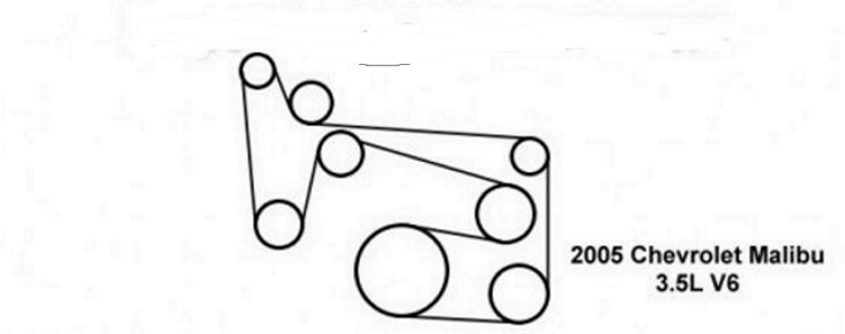 Chevrolet Malibu Questions - serpentine belt diagram for 35 2004
