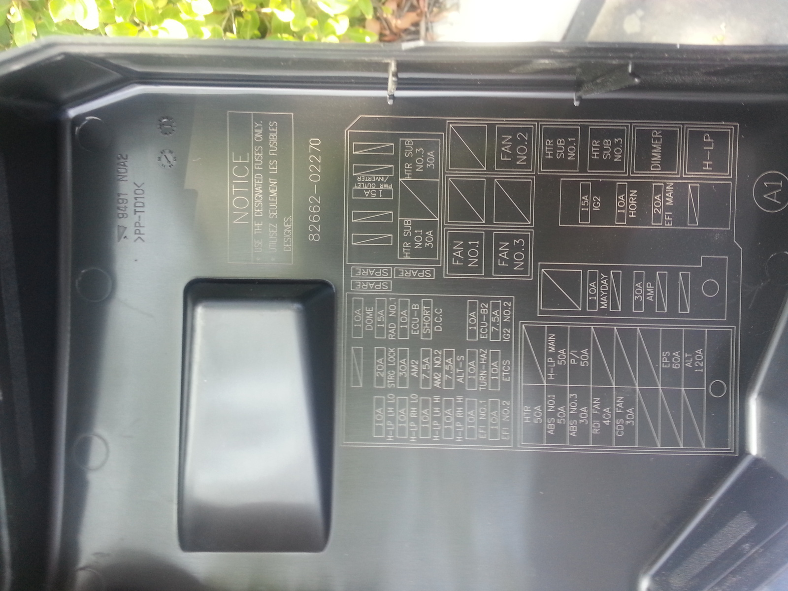 2010 toyota camry fuse box diagram