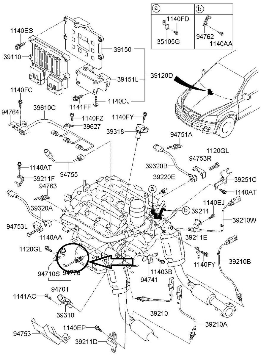 kia rio sedona sorento Motor diagram