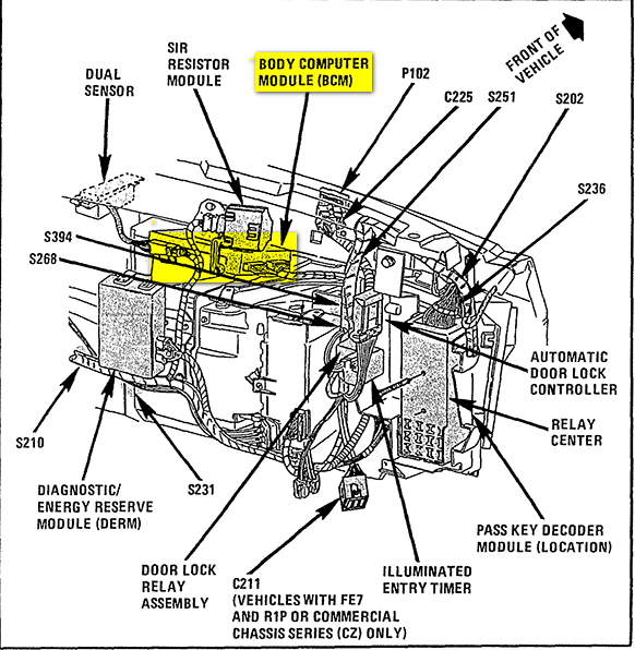 1999 cadillac eldorado fuel filter location