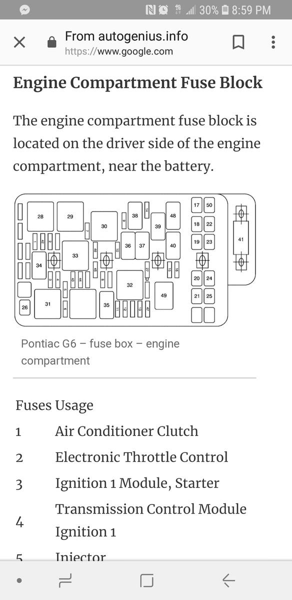 Pontiac G6 Questions - G6 won\u0027t crank - CarGurus