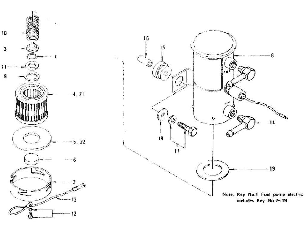 280z fuel pump filter